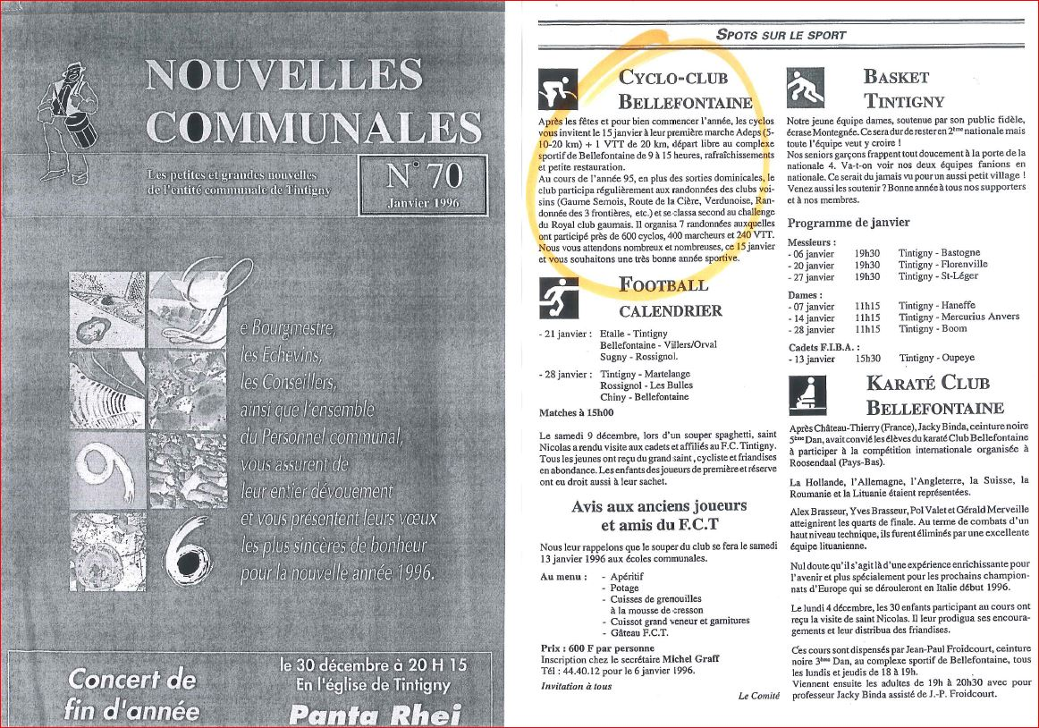 Archives communales 1996