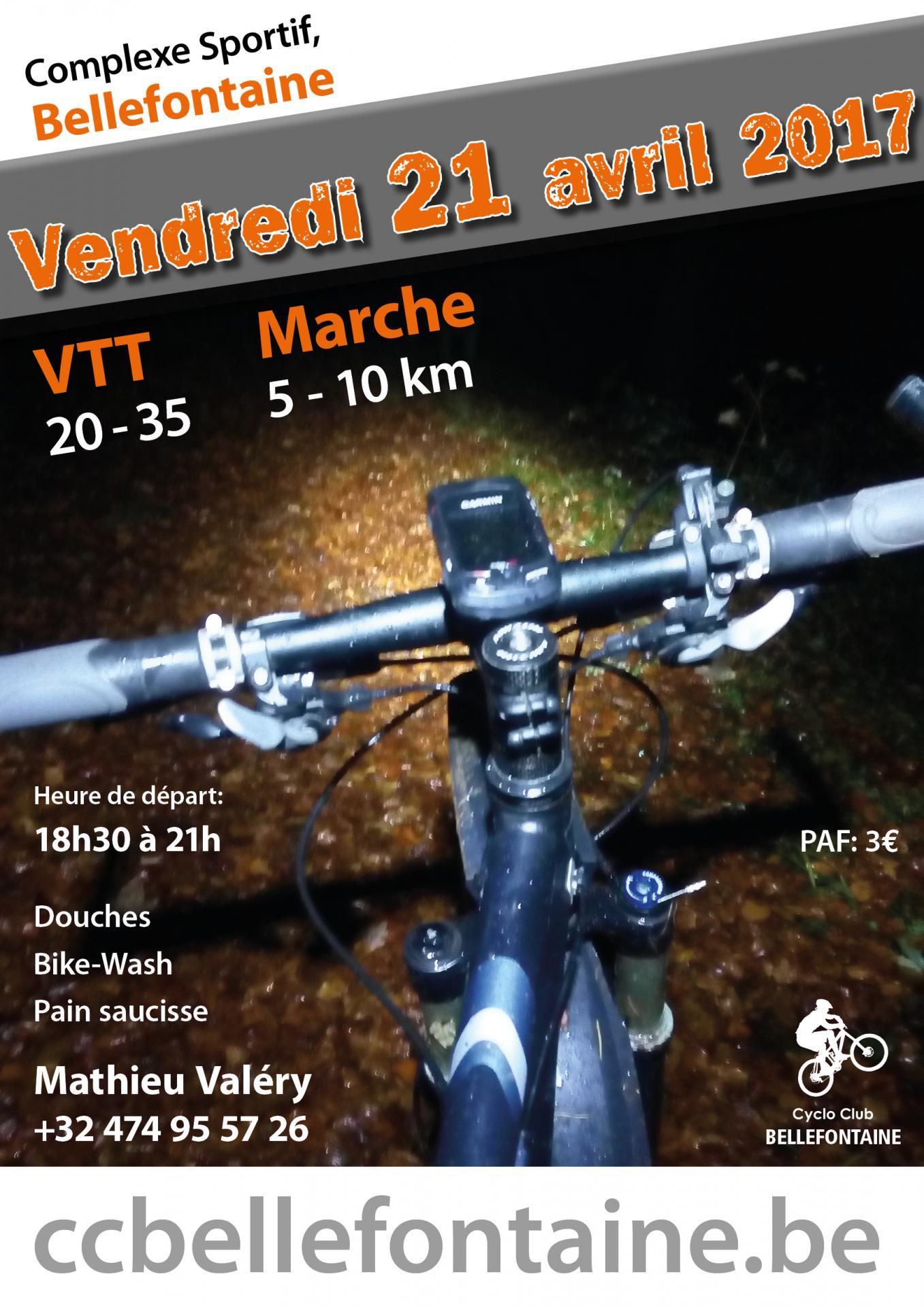 VTT et Marche Nocturne 21/04/2017