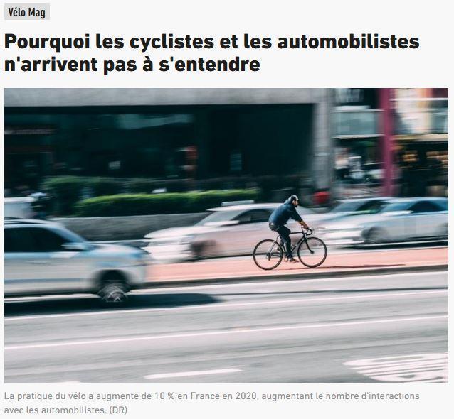 Cyclistes automobilistes