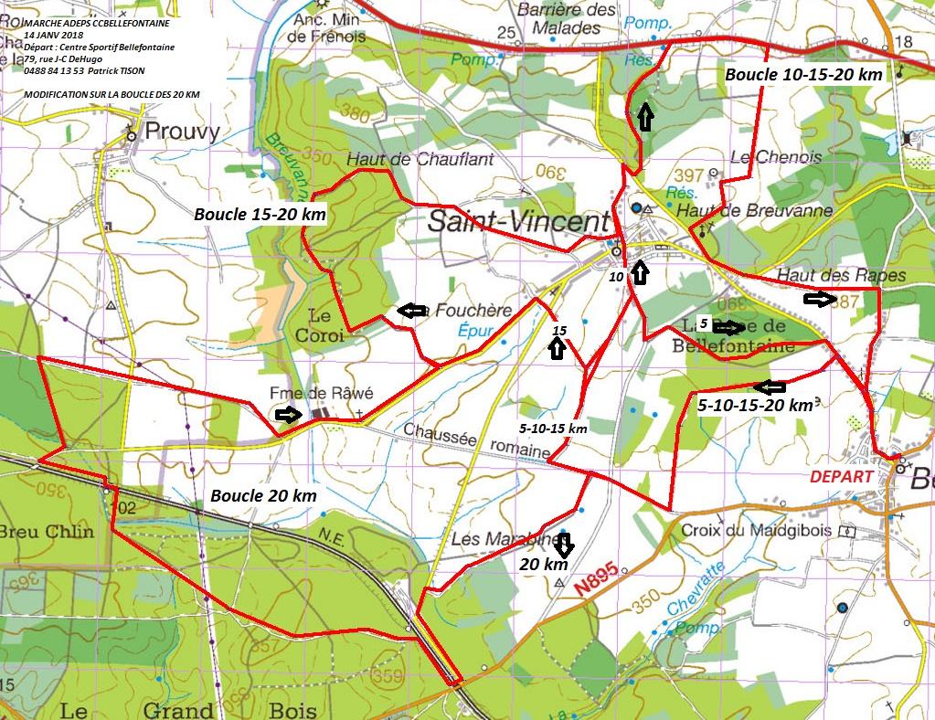 Marche 5 10 15 20 km ccbelefontaine 14 janv 2018